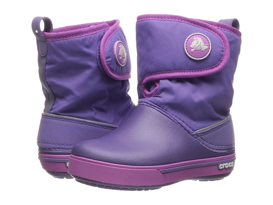 Crocs Kids - Crocband II.5 Gust Boot (Toddler/Little Kid) (Blue Violet/Wild Orchid) Kids Shoes