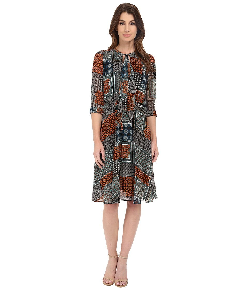 KUT from the Kloth - Chloe Dress (Orange/Teal) Women's Dress