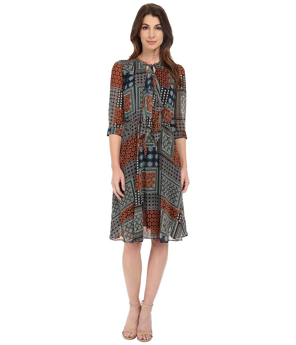KUT from the Kloth - Chloe Dress (Orange/Teal) Women's Dress