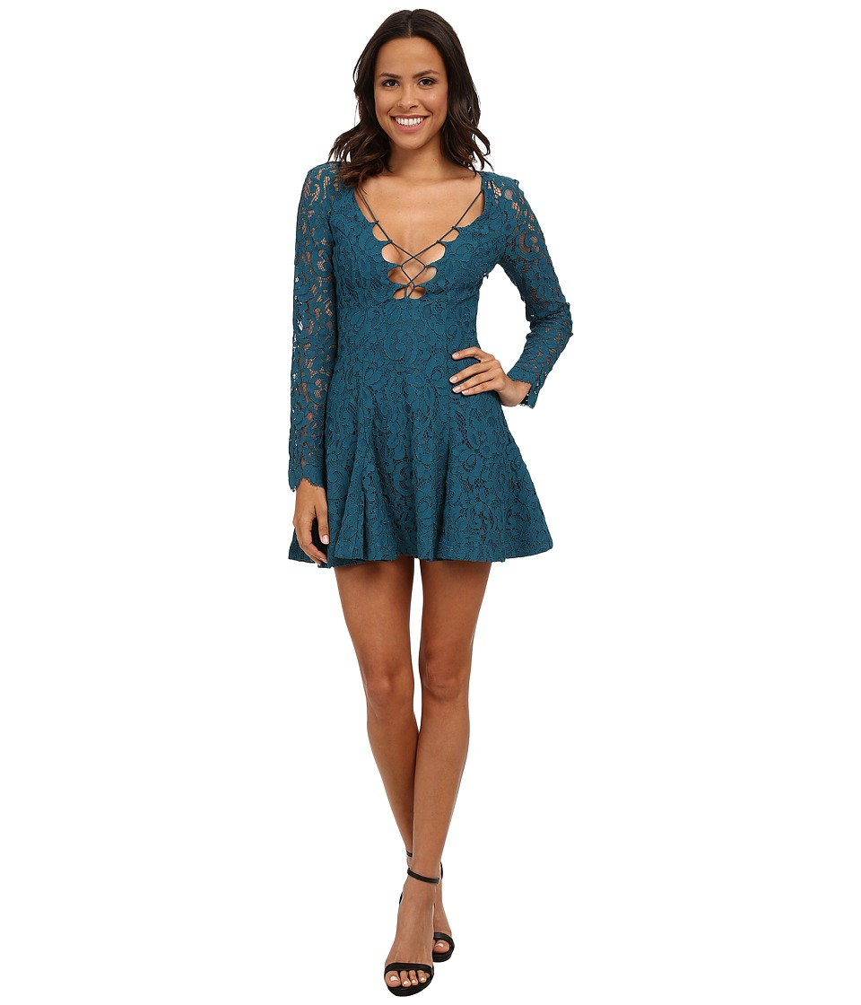 StyleStalker - Love Bomb Dress (Teal) Women's Dress