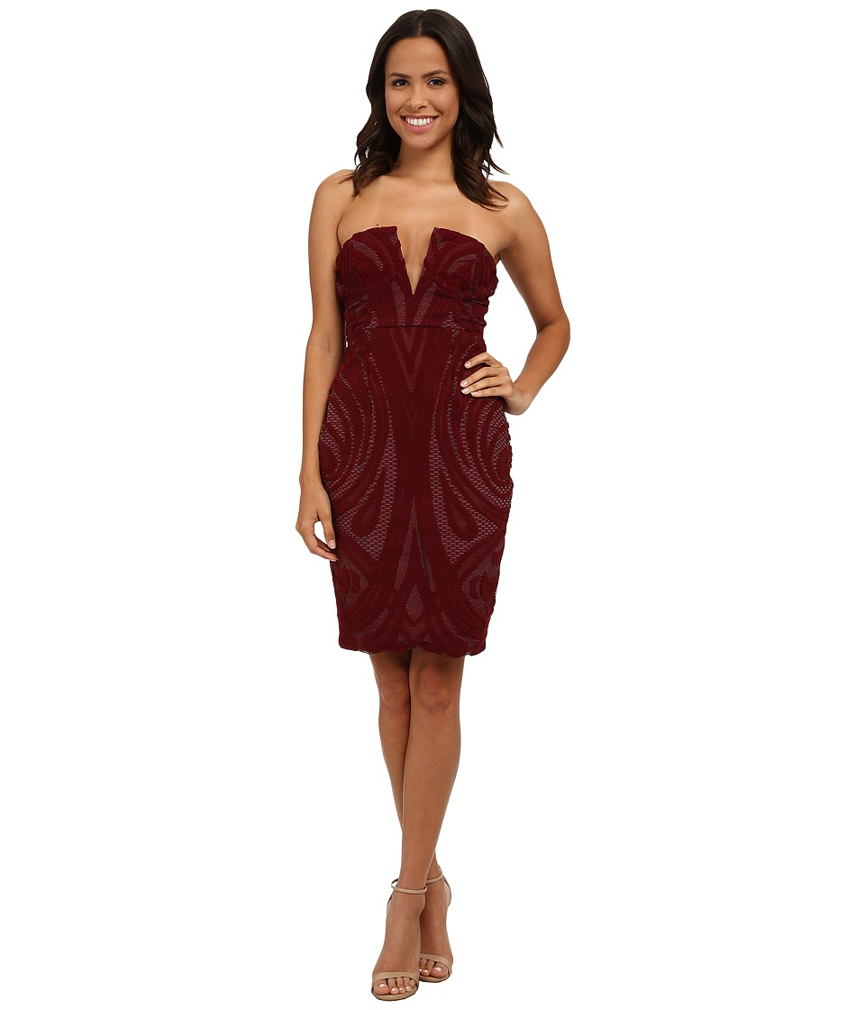 StyleStalker - Melrose Midi Dress (Mahogany) Women's Dress