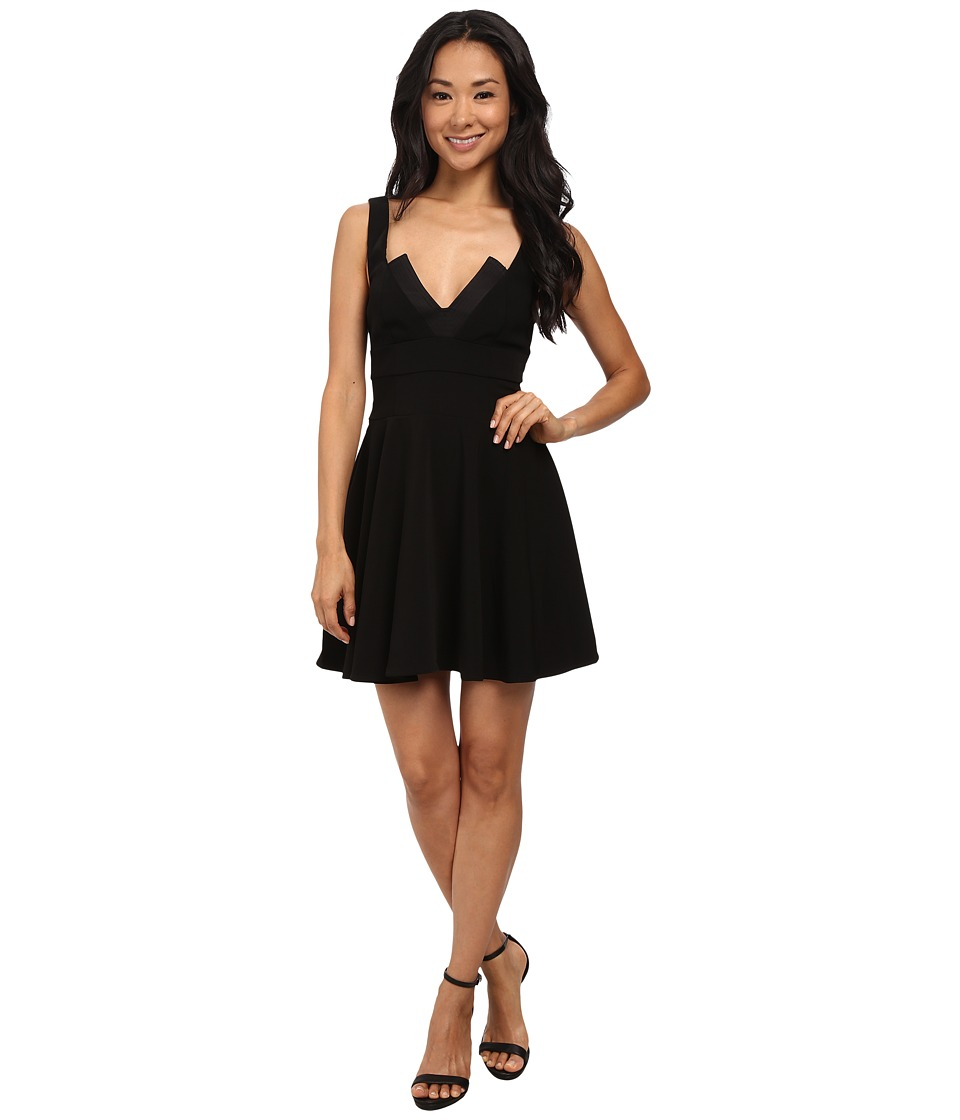 StyleStalker - Midnight A-Line Dress (Black) Women's Dress