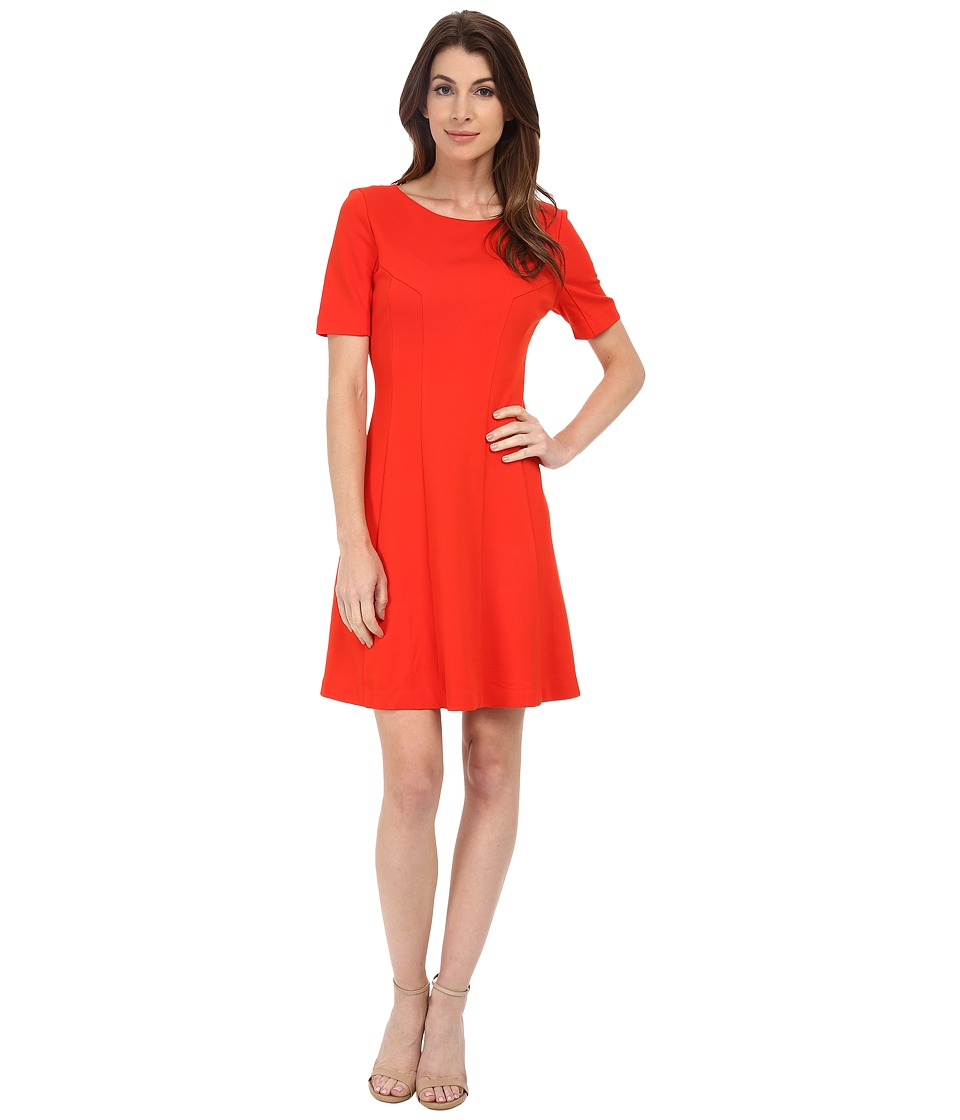 KUT from the Kloth - Lara A-Line Dress (Orange) Women's Dress