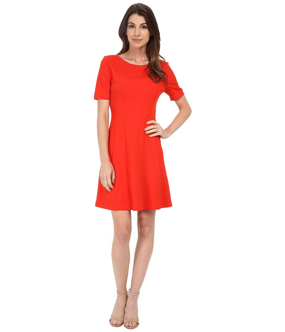 KUT from the Kloth Lara A-Line Dress (Orange) Women