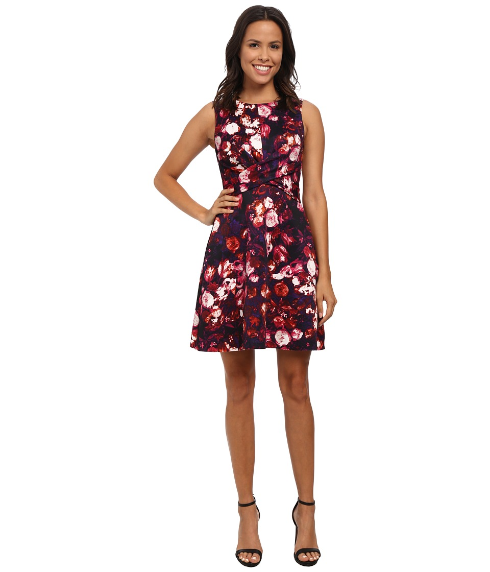 KUT from the Kloth - Adele Cross Front Dress (Purple/Fuchsia) Women's Dress
