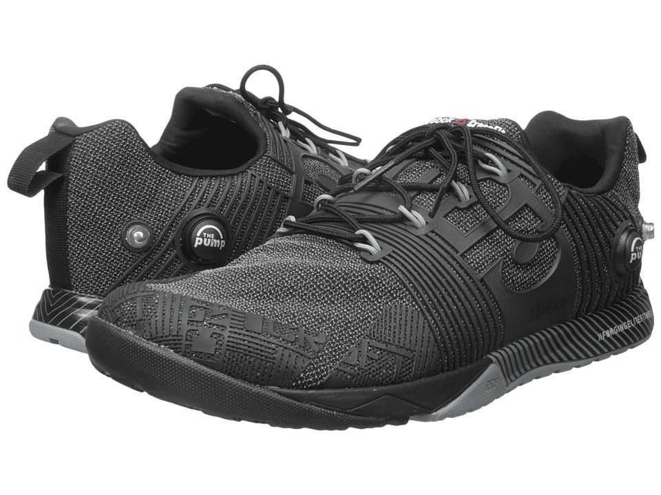 Reebok - CrossFit Nano Pump Fusion (Black/Flat Grey) Men's Cross Training Shoes