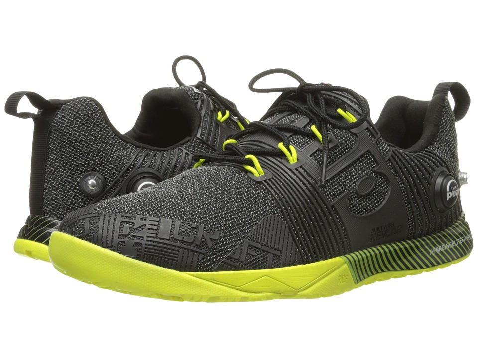 Reebok - CrossFit Nano Pump Fusion (Black/Semi Solar Yellow) Women's Cross Training Shoes