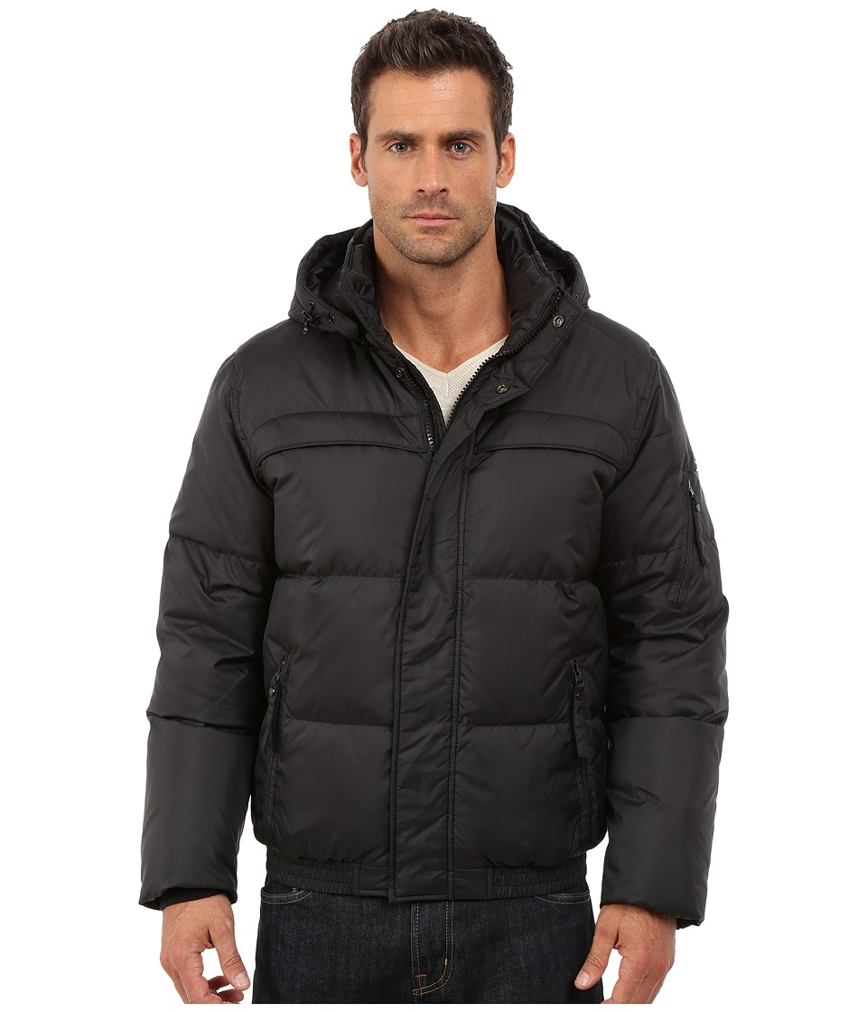 Marc New York by Andrew Marc - Artica Down Filled Bomber w/ Removable Hood (Black) Men's Coat