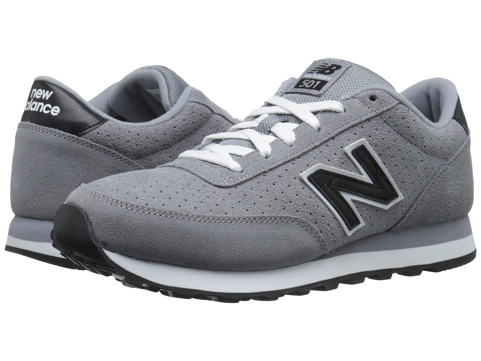New Balance - ML501 (Grey/Black Suede) Men's Classic Shoes