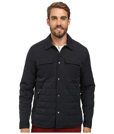 Kenneth Cole New York - Quilted Shirt Jacket (Navy) Men's Coat