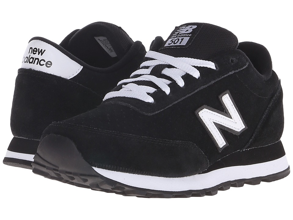New Balance Classics - WL501 (Black/White Suede) Women's Classic Shoes
