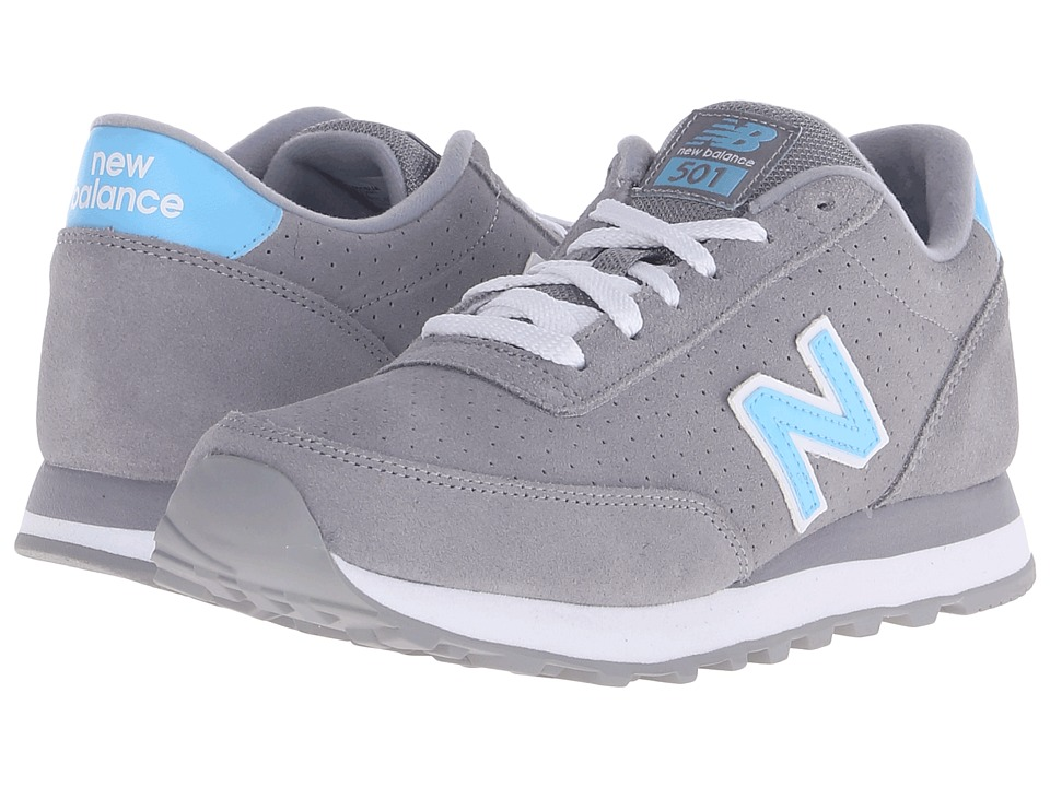 New Balance Classics - WL501 (Grey/Blue Suede) Women's Classic Shoes