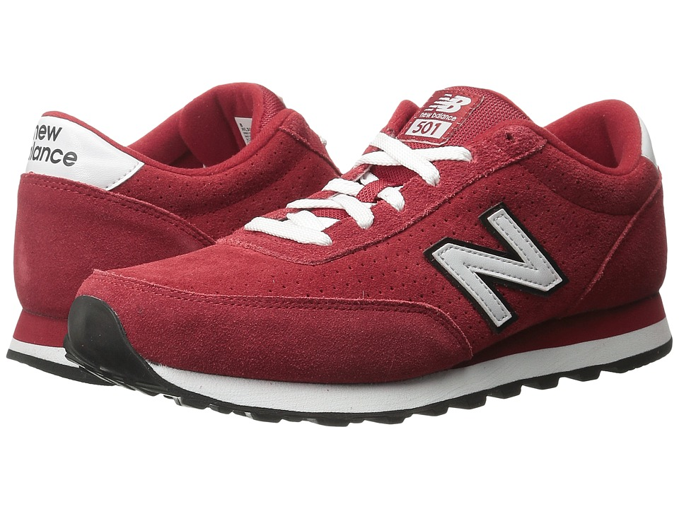 New Balance Classics - WL501 (Red/White Suede) Women's Classic Shoes