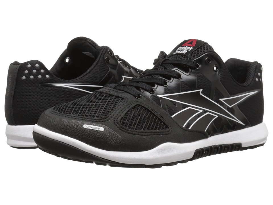 Reebok CrossFit Nano 2.0 Black-White Mens Cross Training Shoes