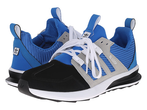 adidas Originals - SL Loop Runner - Leather (Black/Bluebird/Medium Grey Heather Solid Grey) Men