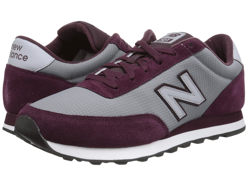 New Balance Classics - ML501 (Burgundy/Grey Suede/Ripstop Mesh) Men's Classic Shoes