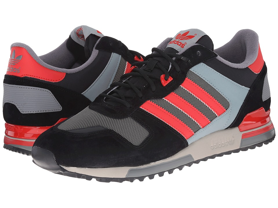 adidas Originals - ZX 700 (Black/Tomato/Earth Green) Men