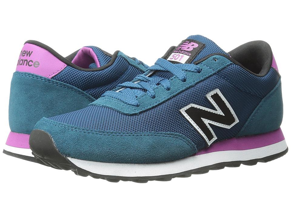 New Balance Classics - WL501 (Blue/Purple Suede/Mesh) Women's Classic Shoes