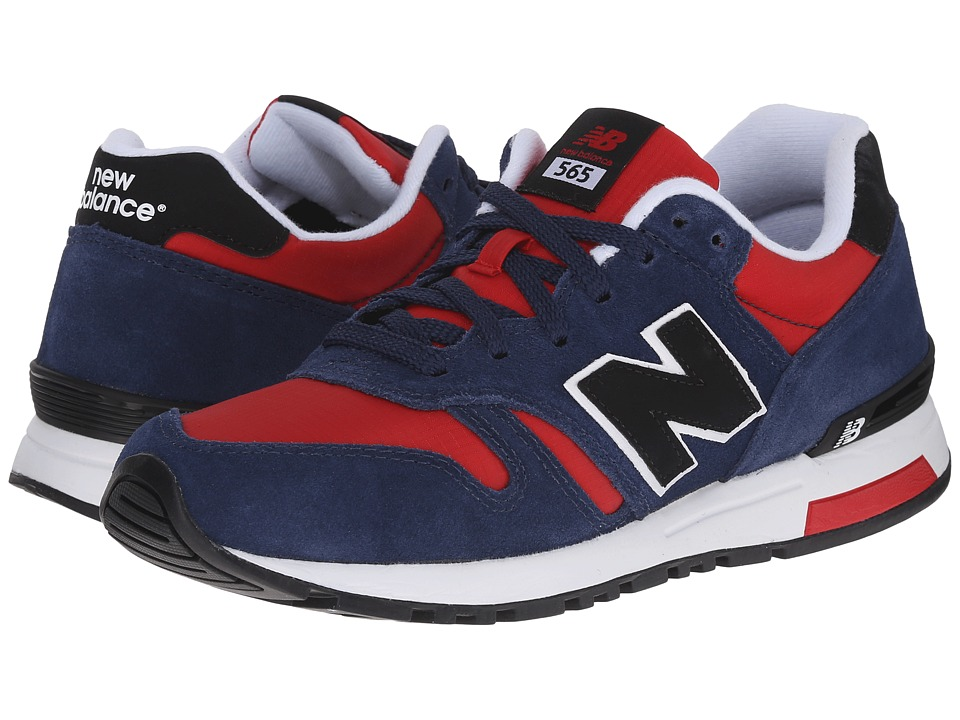 New Balance Classics - ML565 (Navy/Red Suede/Ripstop Mesh) Men's Classic Shoes