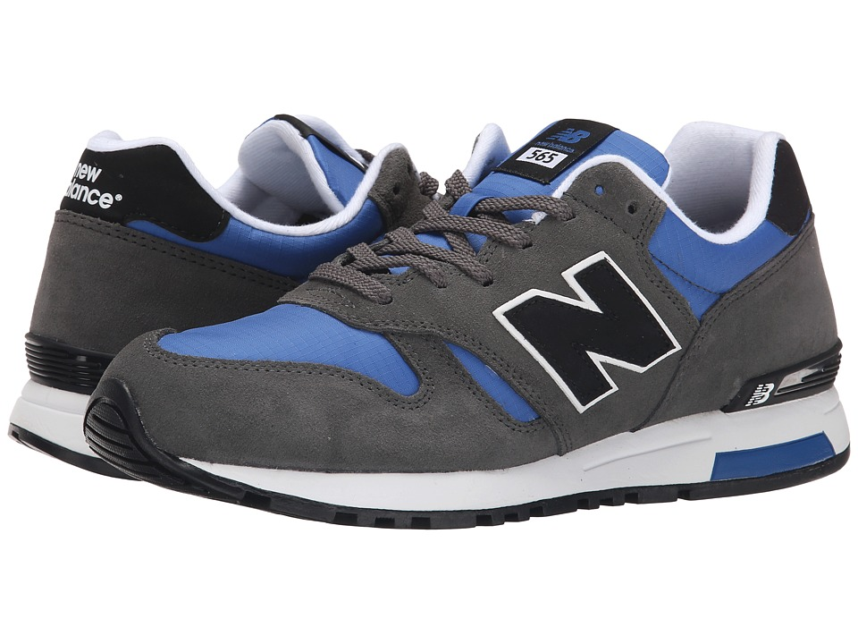 New Balance Classics - ML565 (Grey/Blue Suede/Rip Stop Mesh) Men's Classic Shoes