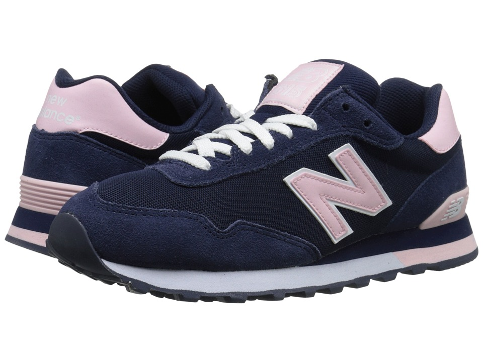 New Balance Classics - WL515 (Black/Pink Suede/Textile) Women's Classic Shoes
