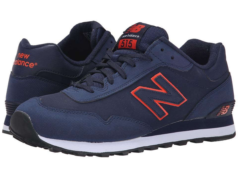 New Balance Classics ML515 (Navy/Orange Synthetic) Men