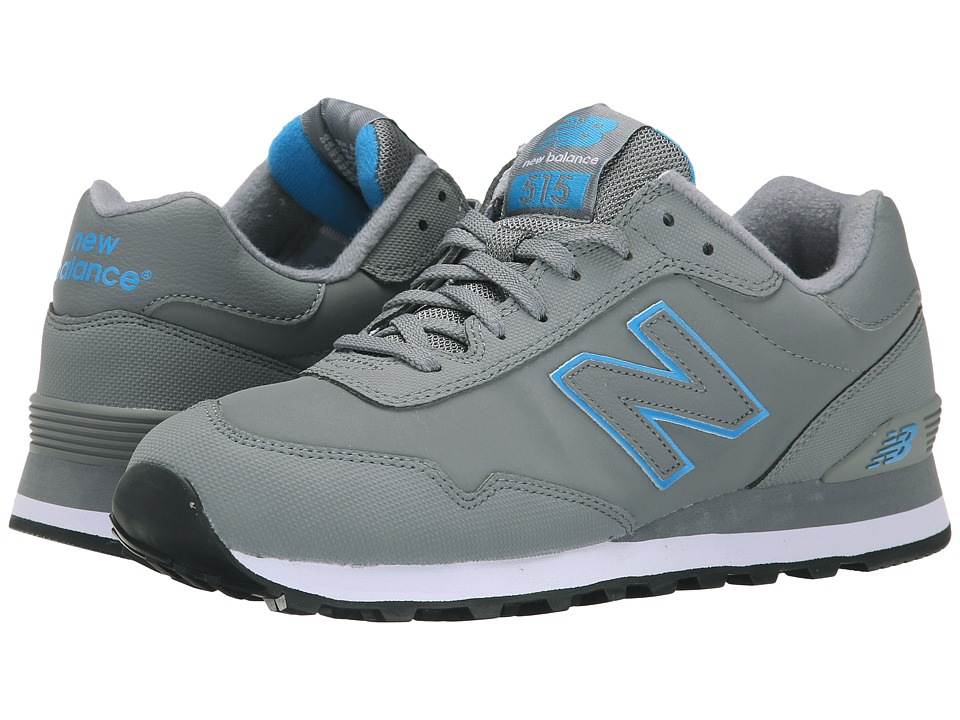 New Balance Classics - ML515 (Grey/Blue Synthetic) Men's Classic Shoes