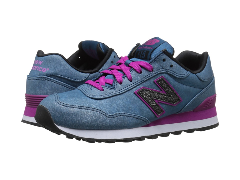 New Balance Classics - WL515 (Blue/Pink Synthetic) Women