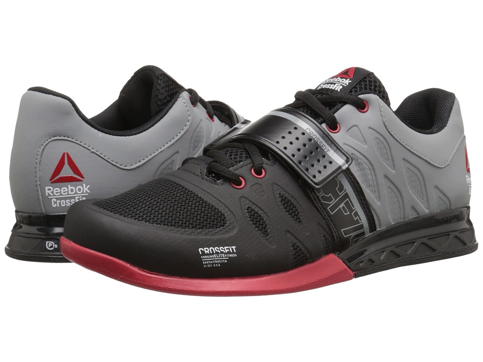 Reebok - CrossFit Lifter 2.0 (Black/Flat Grey/Excellent Red) Men's Cross Training Shoes