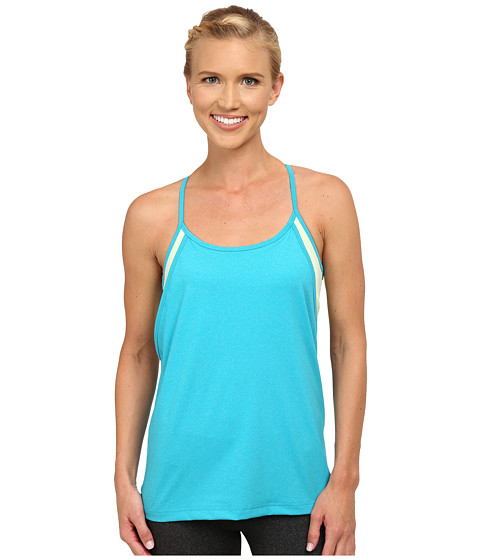 Tonic - Pinnacle Tank Top (Blue Hawaiin Mist & Lime Pop) Women's Sleeveless