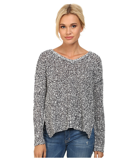 BB Dakota - Shia V-Neck Marled Sweater (Navy) Women