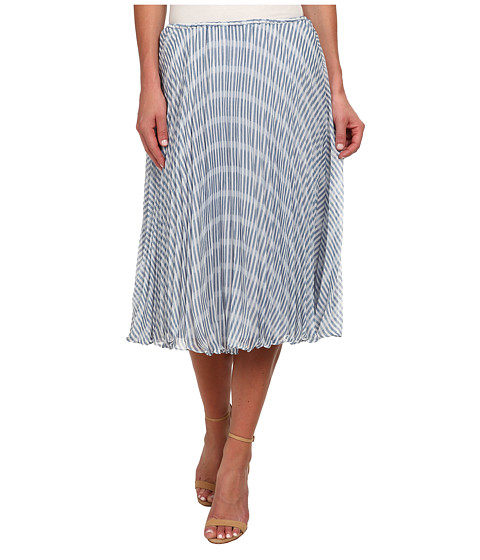 BB Dakota - Gali Pleated Midi Skirt (Overcast Blue) Women