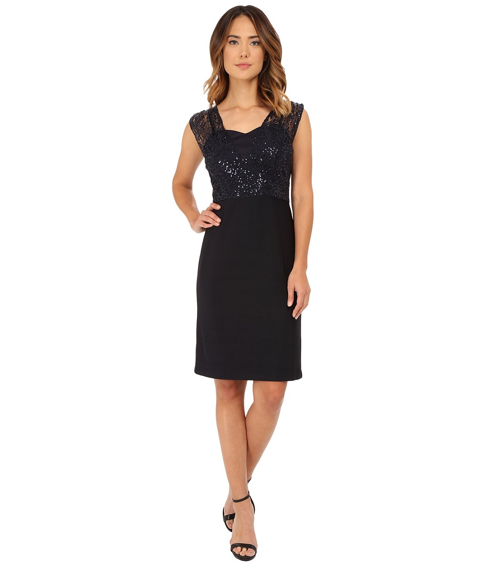 rsvp - Karen Sleeveless Dress (Navy) Women's Dress