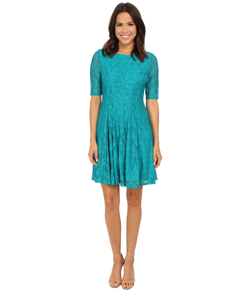 rsvp - Marie Cap Sleeve Dress (Teal) Women's Dress