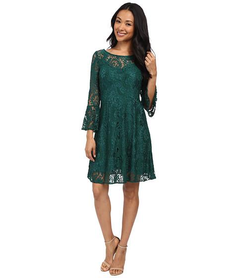 rsvp - Michelle Lace Dress (Pine Green) Women's Dress