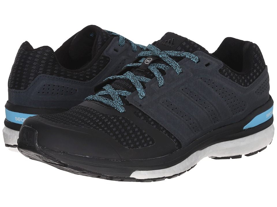 adidas Running - Supernova Sequence Boost 8 (Black/Black/Cyan) Women's Shoes