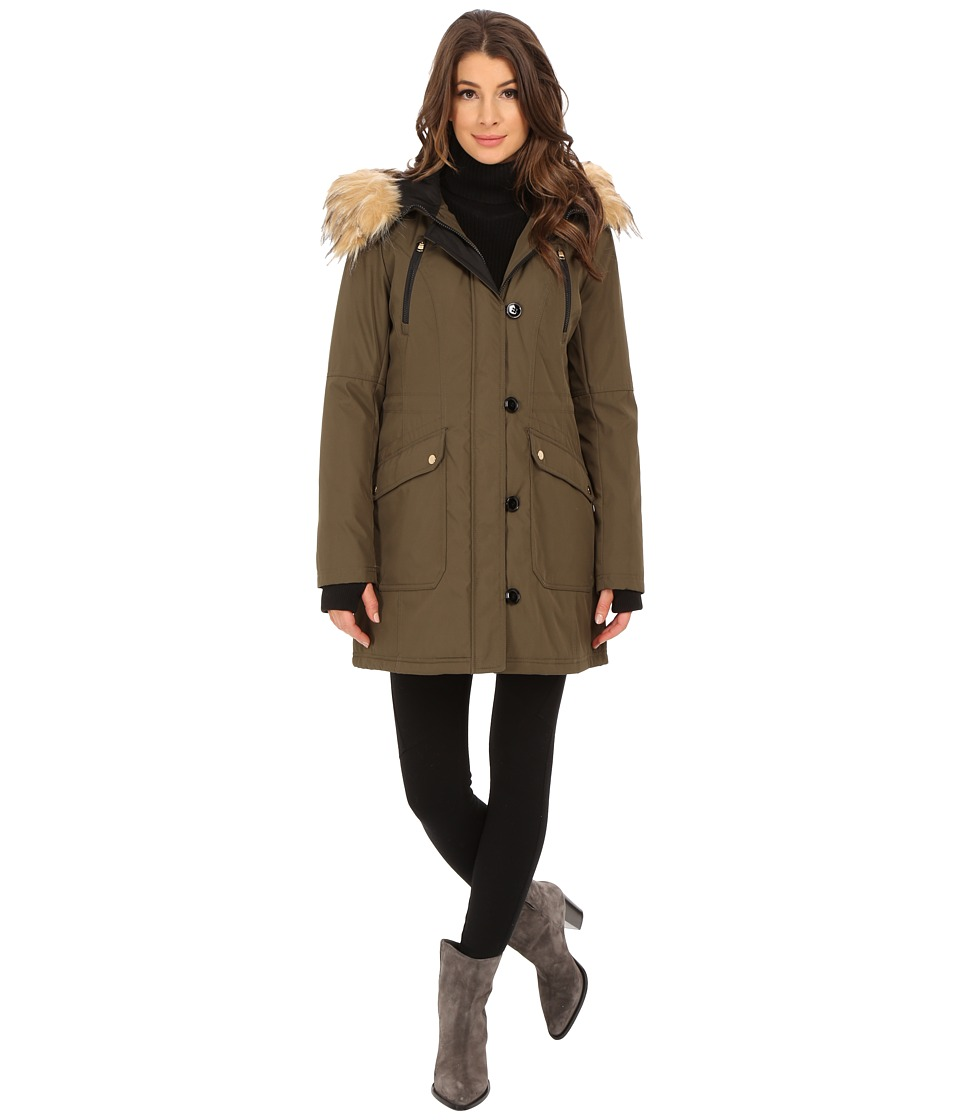 Jessica Simpson - Polybonded with Faux Fur (Loden) Women's Clothing
