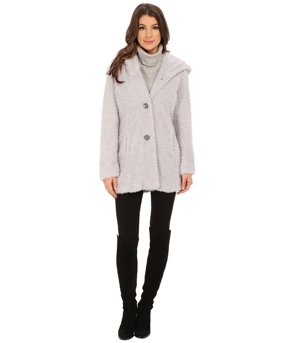 Jessica Simpson - Hooded Faux Fur (Pewter) Women's Clothing