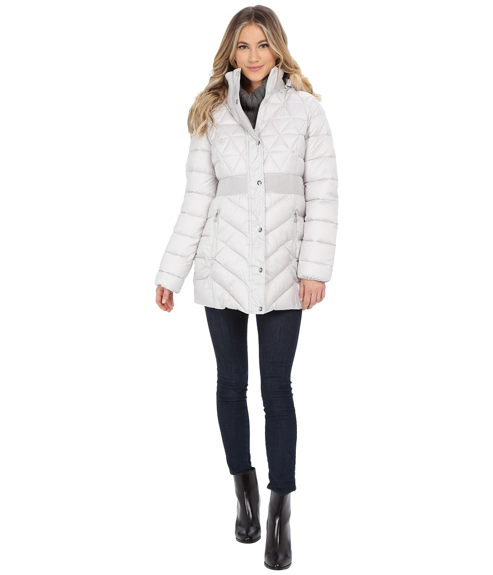Jessica Simpson - Anorak Polybonded with Hood (Pearl) Women's Coat