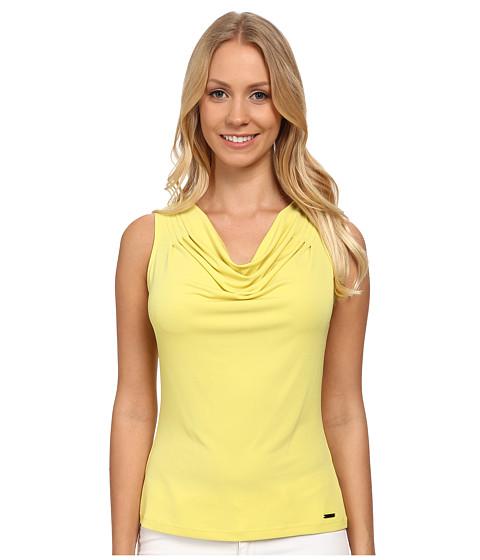 Calvin Klein - Solid Drape Neck Cami (Citron) Women's Sleeveless