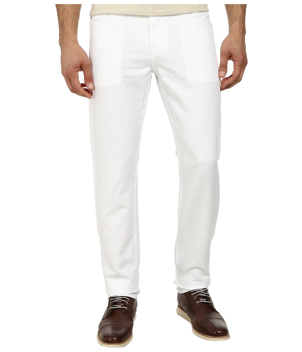AG Adriano Goldschmied - Graduate Tailored Leg Linen Five-Pocket Pants in White (White) Men's Casual Pants