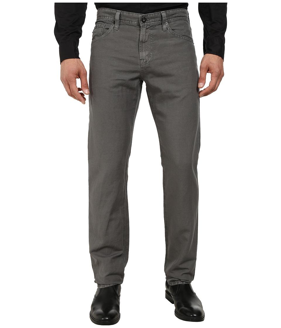 AG Adriano Goldschmied - Graduate Tailored Leg Linen Five-Pocket Pants in Sulfur Shark (Sulfur Shark) Men's Casual Pants