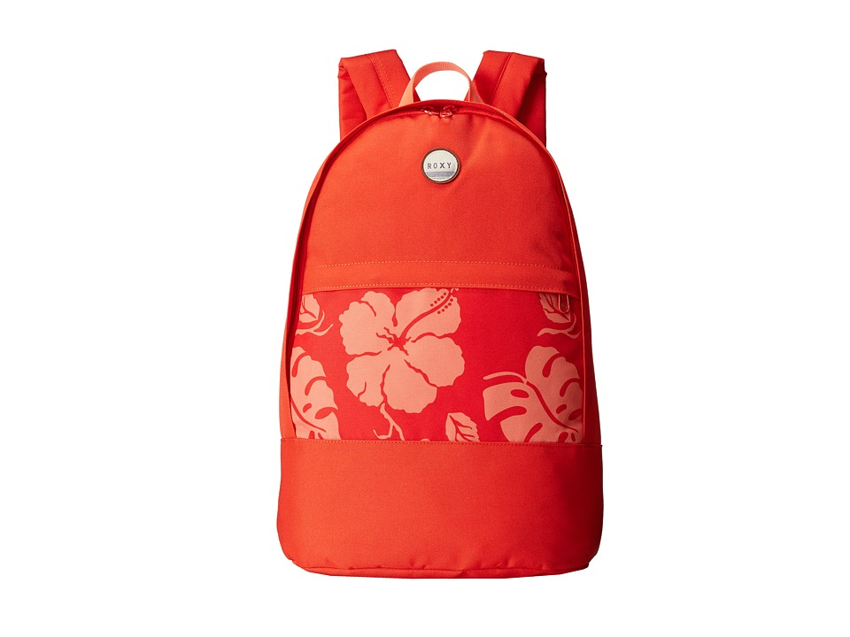 Roxy - Anchor Point Backpack (Fiery Orange Tropical Border 2) Backpack Bags