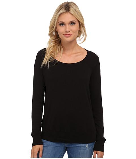 Splendid - 1x1 Pullover (Black) Women's Clothing