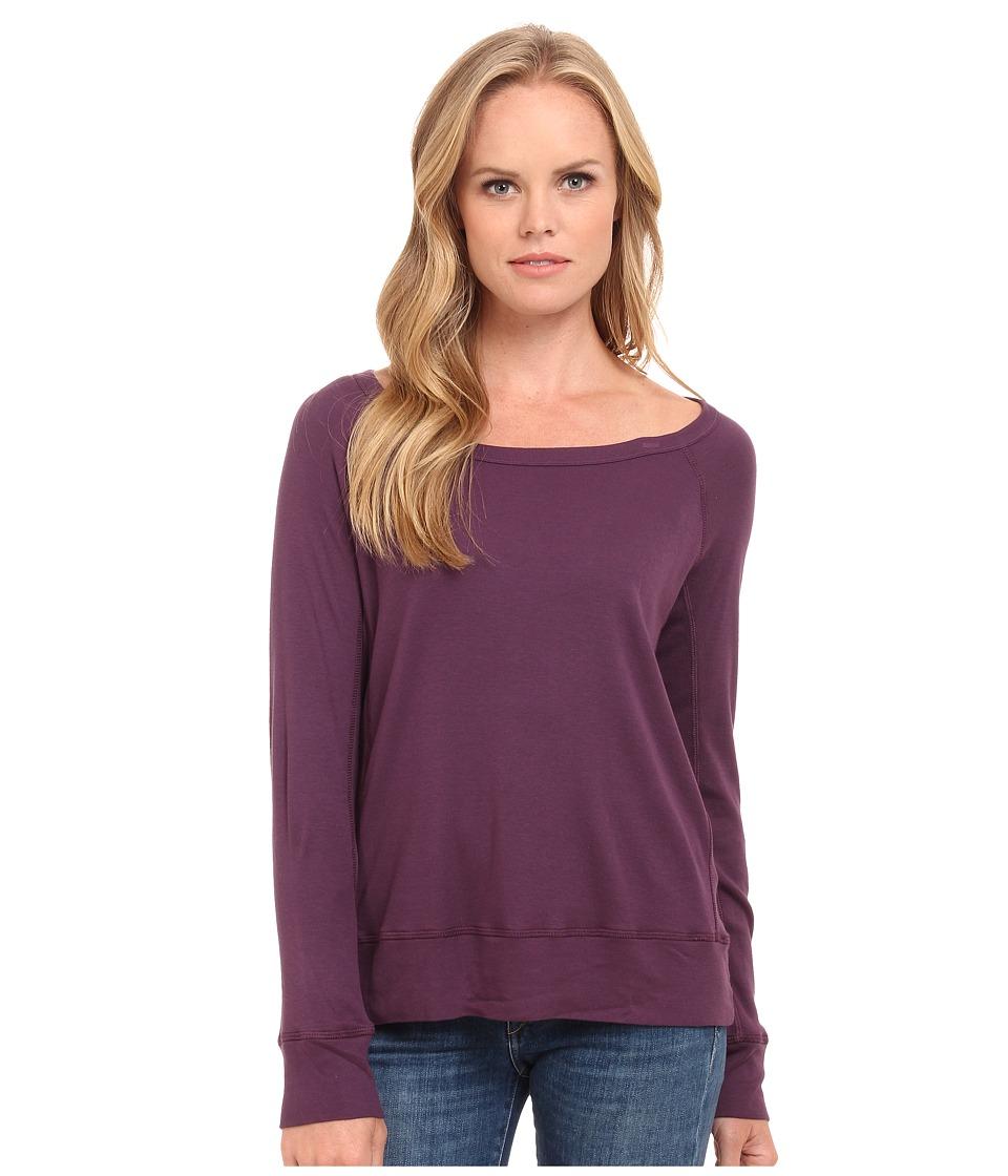 Splendid - 1x1 Pullover (Eggplant) Women's Clothing