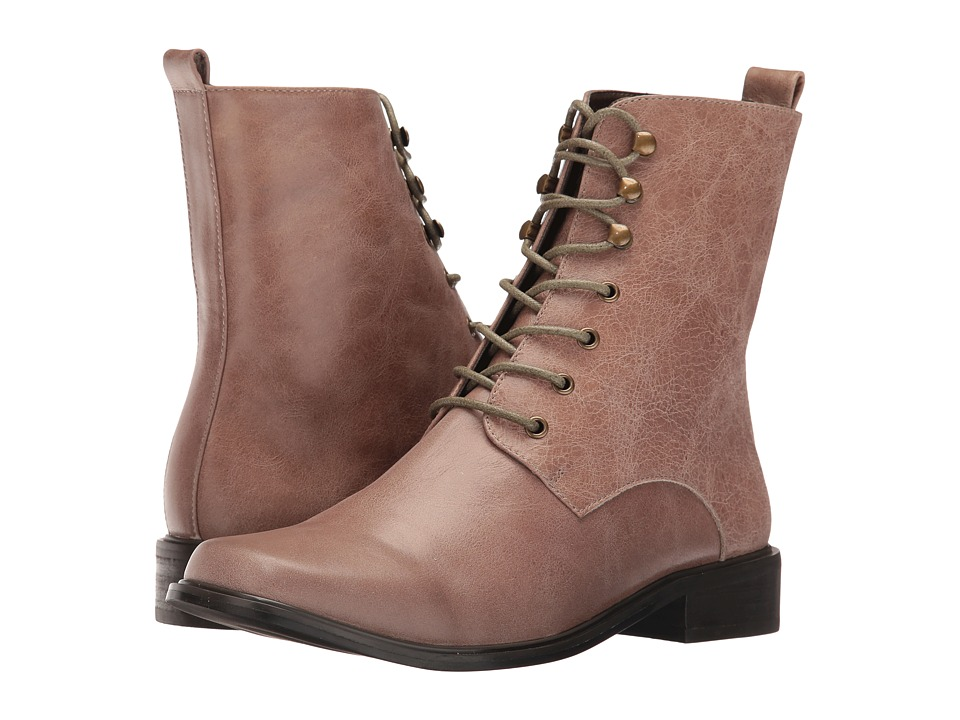 VOLATILE - Glasglow (Taupe) Women's Lace-up Boots