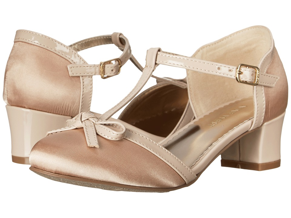 Nine West Kids - Paula (Little Kid/Big Kid) (Taupe Satin) Girls Shoes