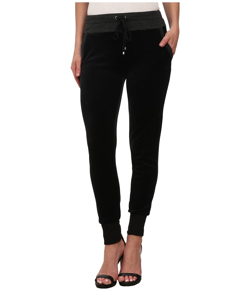 Splendid - Velour Active Pants (Black) Women's Casual Pants