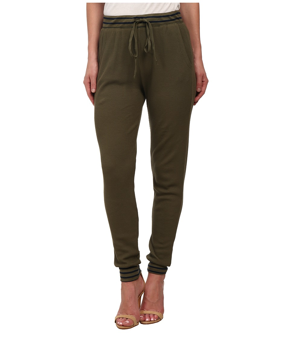 Splendid - Thermal Mixed Venice Stripe Pants (Olive) Women's Casual Pants