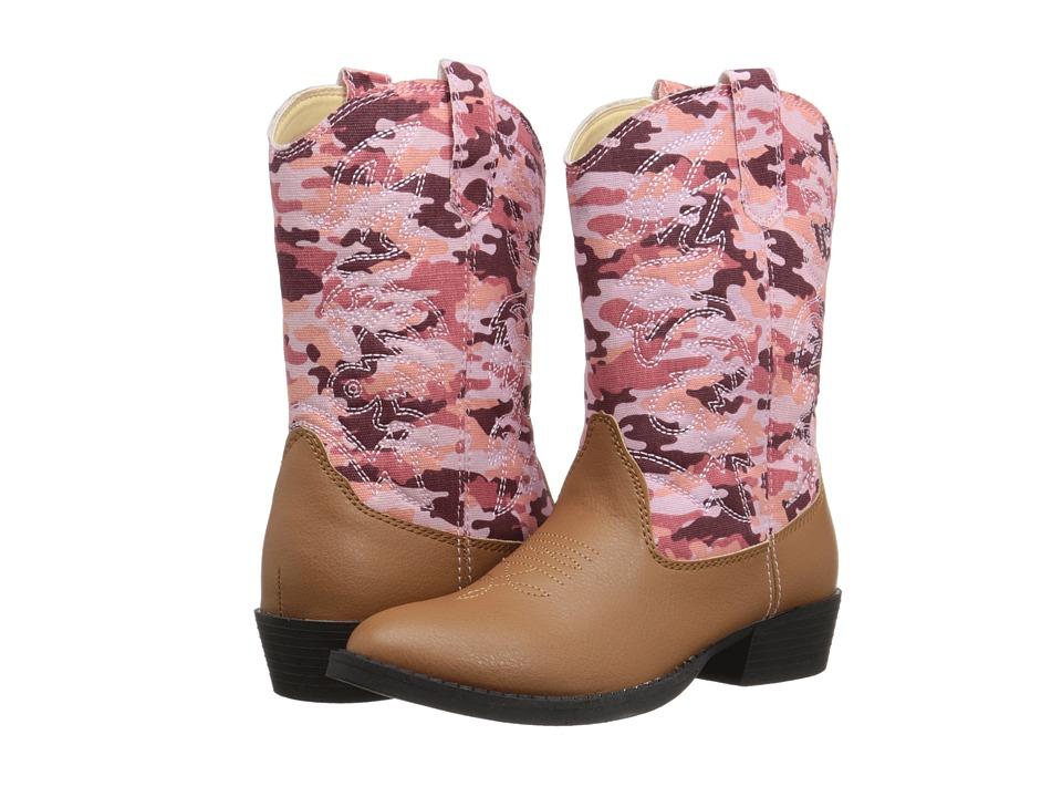 Deer Stags Kids - Ranch (Toddler/Little Kid/Big Kid) (Tan/Pink Camo) Kids Shoes